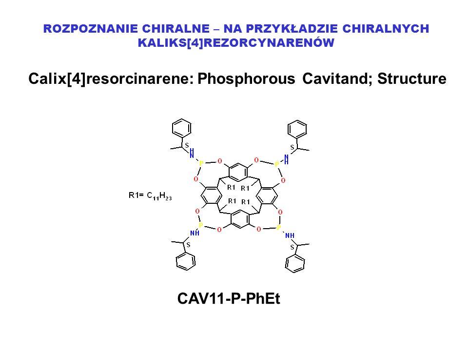 Calix[4]resorcinarene: Phosphorous Cavitand; Structure